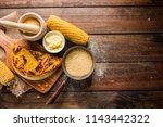 typical venezuelan cuisine  top ... | Shutterstock . vector #1143442322