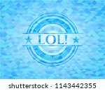 lol  sky blue emblem with... | Shutterstock .eps vector #1143442355