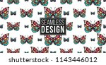 seamless pattern with... | Shutterstock .eps vector #1143446012