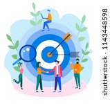 concept reach the target for... | Shutterstock .eps vector #1143448598