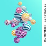 multicolored decorative balls.... | Shutterstock .eps vector #1143460712
