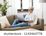 technology  old age and people... | Shutterstock . vector #1143463778