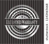 extended warranty silver emblem | Shutterstock .eps vector #1143465668