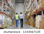 logistic business  shipment and ... | Shutterstock . vector #1143467135
