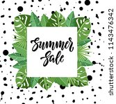 summer sale design with... | Shutterstock .eps vector #1143476342