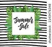 summer sale design with... | Shutterstock .eps vector #1143476348