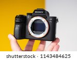 sony a7 iii mirrorless camera... | Shutterstock . vector #1143484625