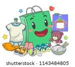 illustration of a shopping bag... | Shutterstock .eps vector #1143484805