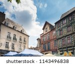 rennes' cobbled medieval core  ... | Shutterstock . vector #1143496838