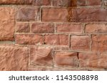 old sandstone wall   inside... | Shutterstock . vector #1143508898