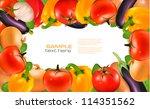 frame made of vegetables.... | Shutterstock .eps vector #114351562