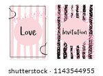 bridal shower set with dots and ... | Shutterstock .eps vector #1143544955