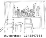 the beauty of an over looking... | Shutterstock .eps vector #1143547955