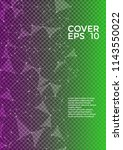 vector cover page layout.... | Shutterstock .eps vector #1143550022