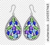 gemstones earrings mockup.... | Shutterstock .eps vector #1143557465