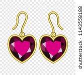 earring diamond shape mockup.... | Shutterstock .eps vector #1143558188