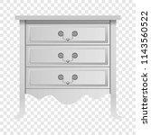 modern white drawer mockup.... | Shutterstock .eps vector #1143560522