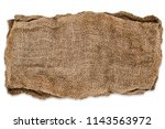 brown burlap hemp cloth frame... | Shutterstock . vector #1143563972