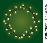garland frame with glowing... | Shutterstock .eps vector #1143565052