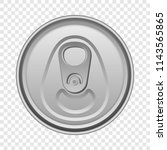 top view aluminum can mockup.... | Shutterstock .eps vector #1143565865