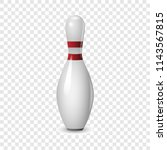 bowling icon. realistic... | Shutterstock .eps vector #1143567815