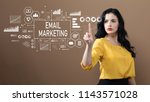 email marketing with business...   Shutterstock . vector #1143571028