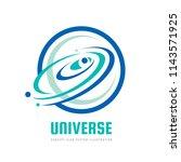 universe   vector logo concept. ... | Shutterstock .eps vector #1143571925