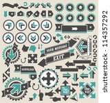 retro arrows icon set | Shutterstock .eps vector #114357292