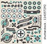 retro arrows icon set | Shutterstock .eps vector #114357292