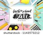 back to school sale trendy... | Shutterstock .eps vector #1143573212