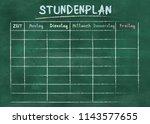 stundenplan  german for school... | Shutterstock . vector #1143577655