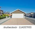 double doors garage with wide... | Shutterstock . vector #114357955