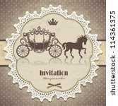 vintage horse carriage... | Shutterstock .eps vector #114361375