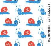 vector cute seamless pattern... | Shutterstock .eps vector #1143622295