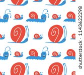 vector cute seamless pattern... | Shutterstock .eps vector #1143622298