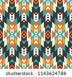 tribal seamless colorful... | Shutterstock .eps vector #1143624788