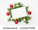 blank card with christmas... | Shutterstock . vector #1143627098