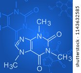 chemical formula on blue... | Shutterstock .eps vector #1143632585