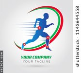 active man  running silhouette  ... | Shutterstock .eps vector #1143644558