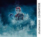 the phantom football... | Shutterstock . vector #1143649538