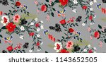 seamless floral pattern in... | Shutterstock .eps vector #1143652505