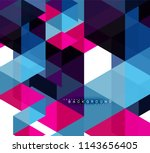 multicolored triangles abstract ... | Shutterstock .eps vector #1143656405