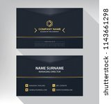 business model name card luxury ... | Shutterstock .eps vector #1143661298