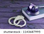 Handcuffs  Judge's Hammer