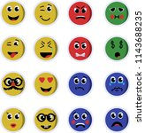 a variety of emoticons | Shutterstock .eps vector #1143688235