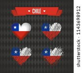 chile heart with flag inside.... | Shutterstock .eps vector #1143698912