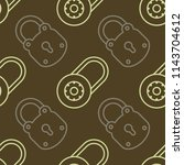 seamless pattern with lock... | Shutterstock .eps vector #1143704612