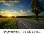 empty asphalt road in rural... | Shutterstock . vector #1143713468