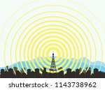 tower vector icon | Shutterstock .eps vector #1143738962