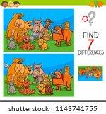 cartoon illustration of finding ... | Shutterstock .eps vector #1143741755